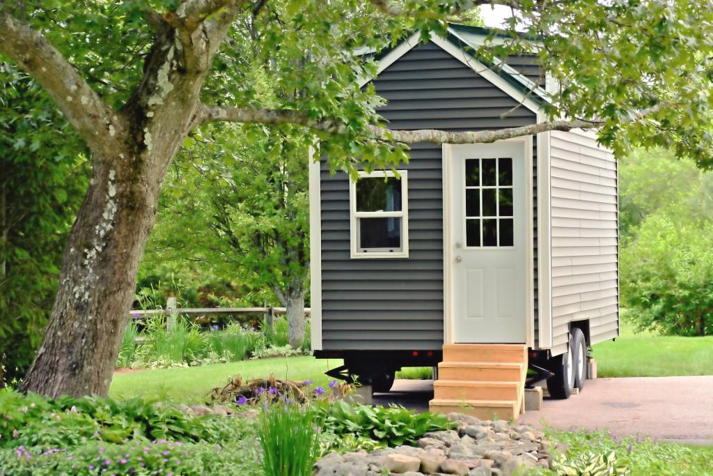 Maison grise - Plus de Style - Le phénomène Tiny House