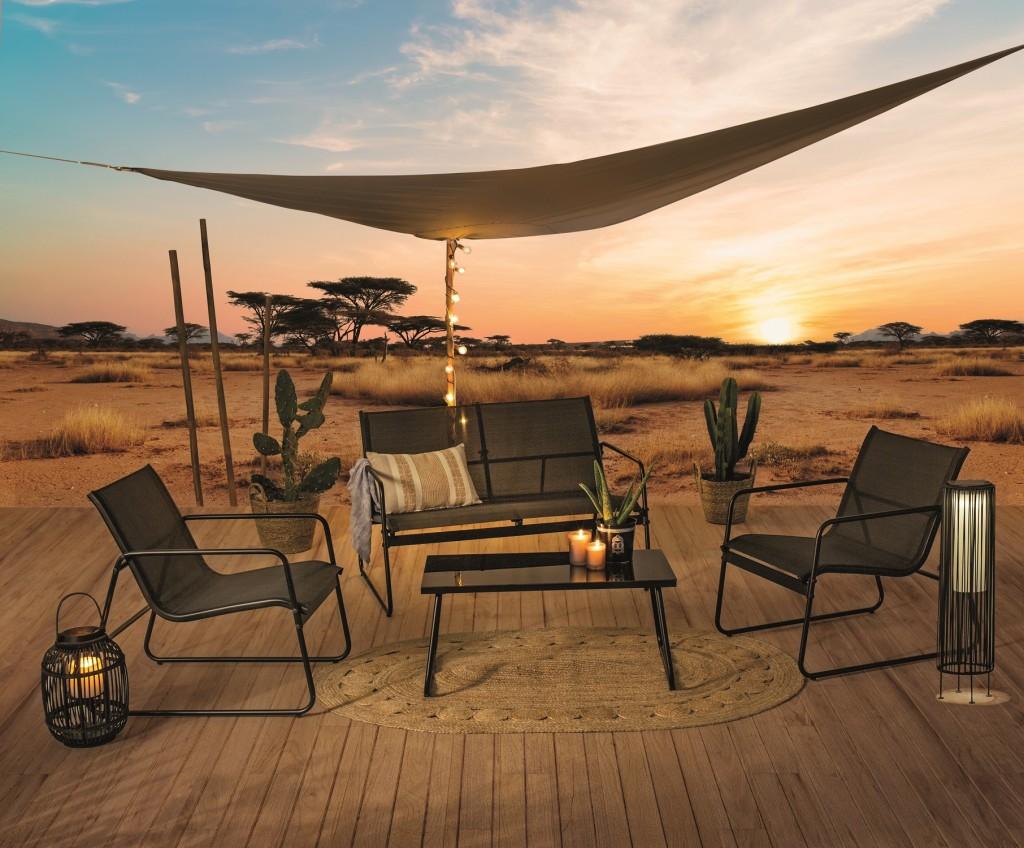 Salon de jardin madras style safari lodge