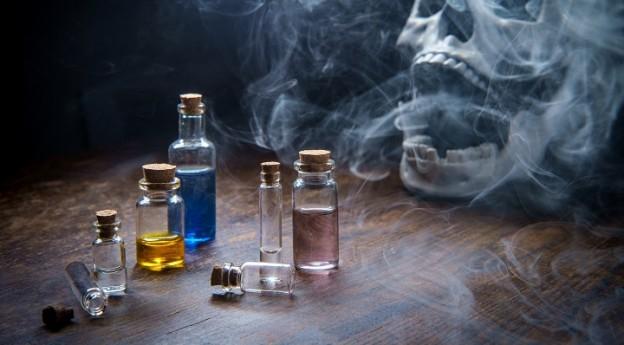etiquettes pour potions de sorcieres halloween